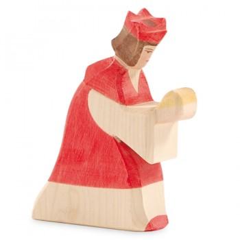 Heilige Drei Könige Krippenfigur rot