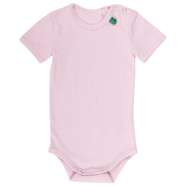 Kurzarm Mädchenbody rosa mit Druckknöpfen