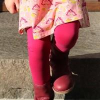 Leuchtend pinke Mädchen Leggings