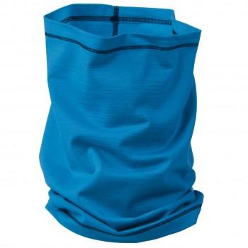 Schlauchschal 2in1 Unisex Wolle Seide blau