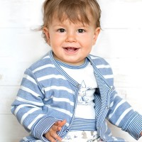 Babyjacke zum Wenden hellblau