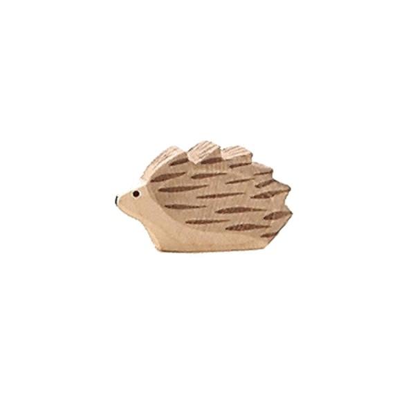 Igel klein handbemalt Holzfigur 2 cm hoch