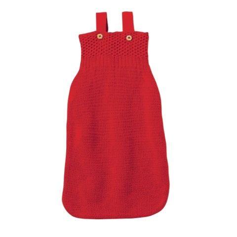 Sommer- und Übergangszeit Strick Schlafsack rot