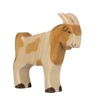 Holzfigur Ziegenbock - auf dem Bauernhof