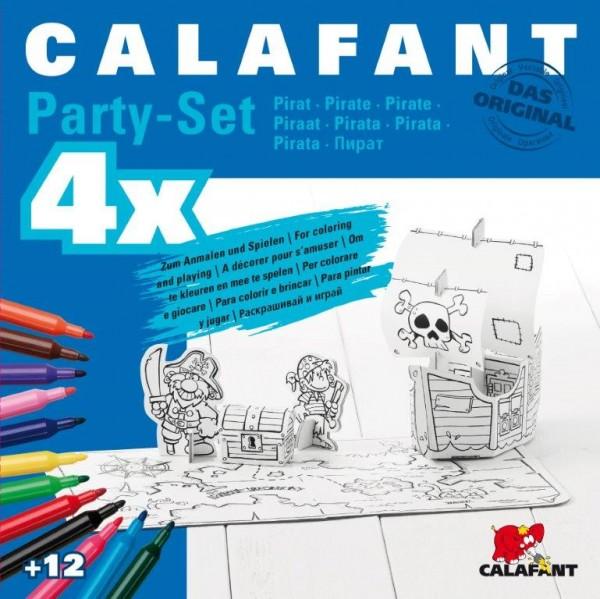 """Party-Set """"Piraten"""" zum Stecken, malen & spielen"""
