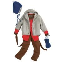Vorschau: Leichte warme Strickjacke Wolle atmungsaktive rot