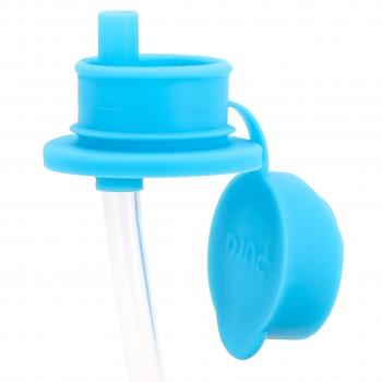 Sportverschluss mit Trinkhalm für alle Pura Flaschen blau