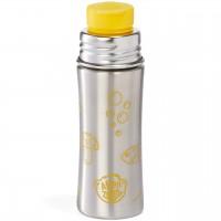 Edelstahl Trinkflasche Sportverschluss Eule gelb