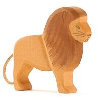 Löwe Zootiere Holzfigur 12 cm hoch