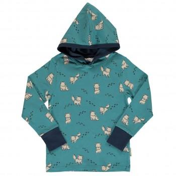 Shirt langarm Kapuze breite Armbündchen Polarfüchse