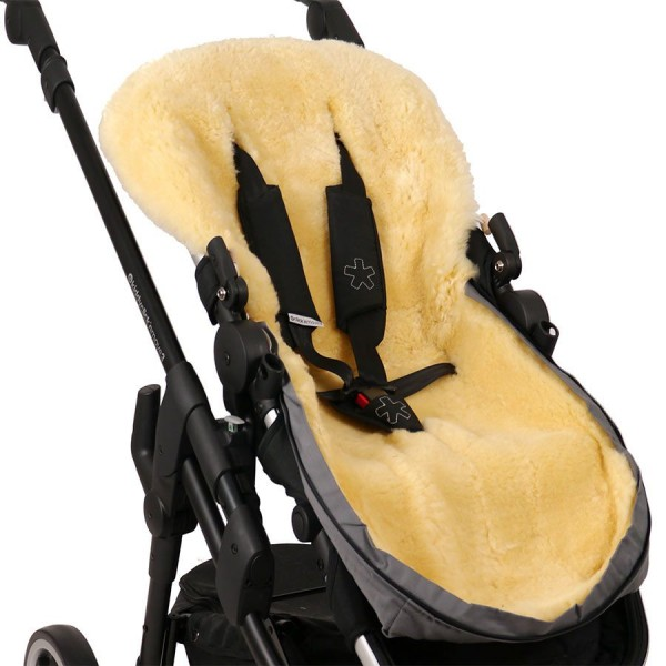 Natura Kinderwagenfußsack Lammfell braun