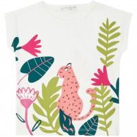 T-Shirt Leoparden-Druck in weiß