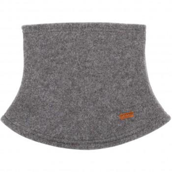 Loopschal Wolle Fleece schiefer-grau