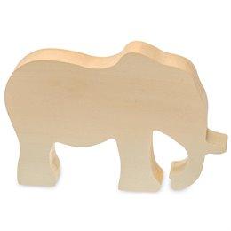 Schnitzrohling Holztier - Elefant