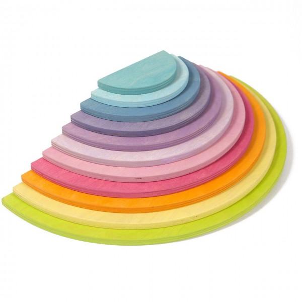Halbkreise Platten Set Pastell