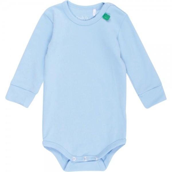 Softer Bio Body mit breiten Armbündchen - pastellblau
