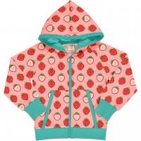 Kapuzen Jacke Erdbeere Sweat in rosa
