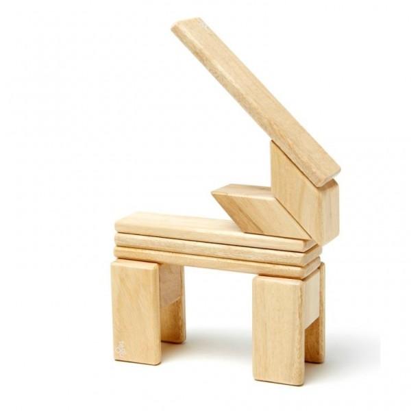 Magnet-Holzbauklötze-Natural 14-teilig