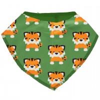 Leichtes Dreiecktuch Tiger in grün