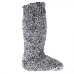 Lange Vollplüsch Socken Wolle warm dick grau
