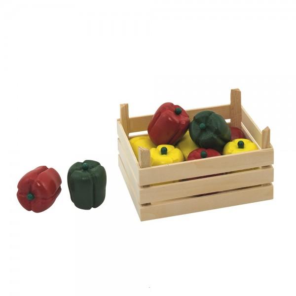 Gemüsekiste für Kaufmannsladen - Paprika