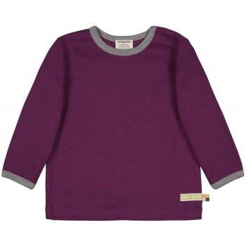 Strukturiertes Shirt langarm in lila