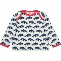 Shirt langarm Wale in dunkelblau/hell