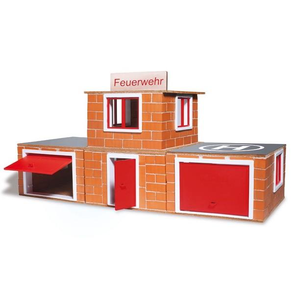 Steinbaukasten Feuerwehr 220tlg 6-12+ Jahre
