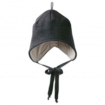 Wintermütze Wolle anthrazit Ohrenschutz