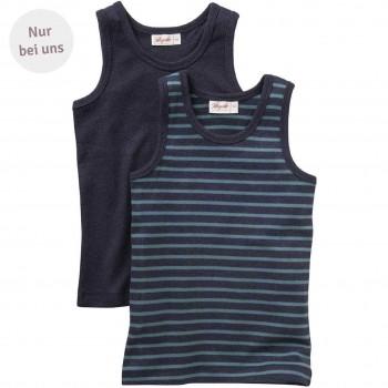 Unterhemd dunkelblau Doppelpack- Exklusiv bei greenstories