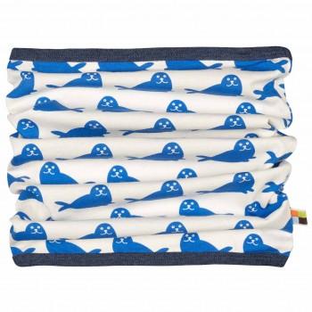 Blauer leichter Schlauchschal Robbe