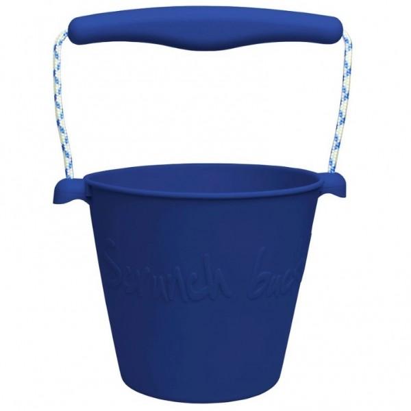 Silikon Eimer Scrunch Bucket marine