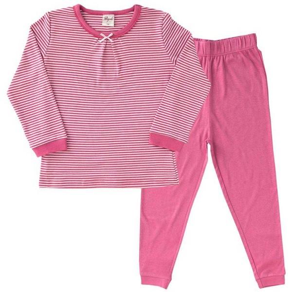 Schlafanzug leicht in langarm rosa