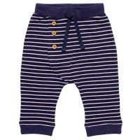 Sommer-Sweat Babyhose navy gestreift