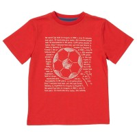Fussball T-Shirt rot cool und lässig