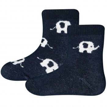Baby Thermo Socken 2er Pack Elefanten navy
