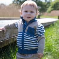 Vorschau: Strickjacke mit Reißverschluss für kleine Gentlemans