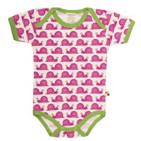 Loud and Proud Schnecken Body kurzarm pink