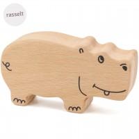Babyrassel aus Holz ab 6 Monate – Hippo