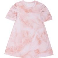 Edles rosa Marmor Mädchenkleid seidig glatt
