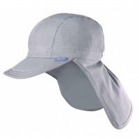 Capi - Schirmmütze mit Nackenschutz für heiße Tage grau