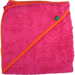 Handtuch für Babys mit Kapuze pink rosa