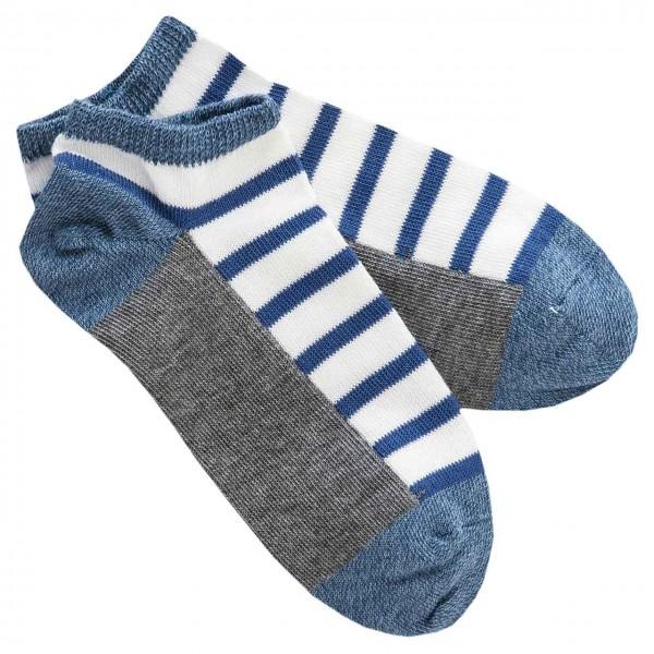 Sneaker Socken blau gestreift
