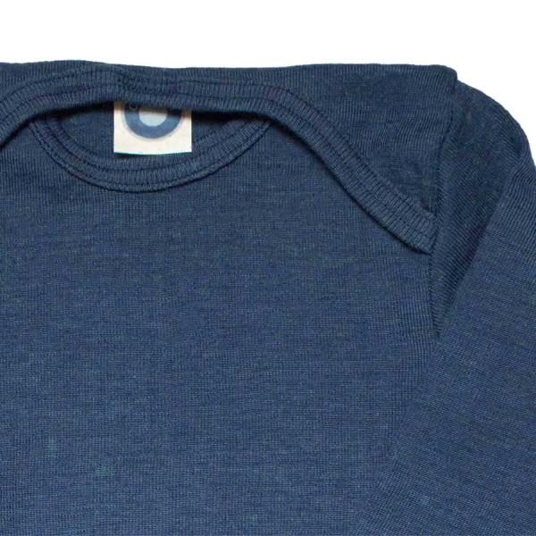 Cosilana atmungsaktiver Body Wolle Seide marine