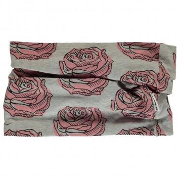 Schlauchschal leicht Rosen grau 98/140