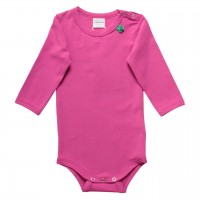 Basic langarm Body in pink-violet