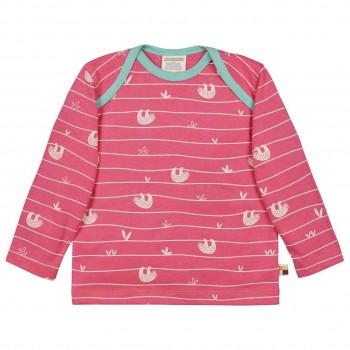 Leichtes Shirt langarm Faultiere pink