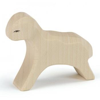 Lamm laufend für Spielwelt Holzfigur 6 cm hoch
