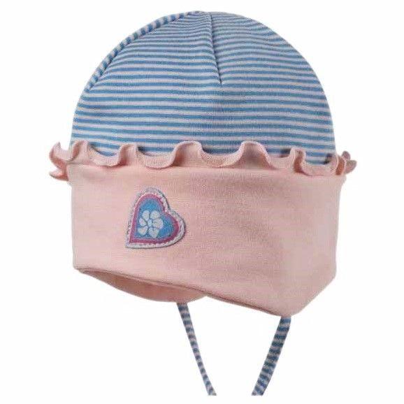 Bio Babymütze für Sommer & Übergangszeit - pink blue