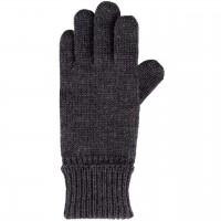 Strick Fingerhandschuhe grau